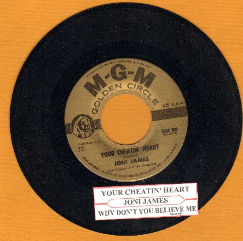 James, Joni - Your Cheatin' Heart/Why Don't You Believe Me (early authentic-looking double-hit re-issue with juke box label) - NM9/ - 45 rpm Records