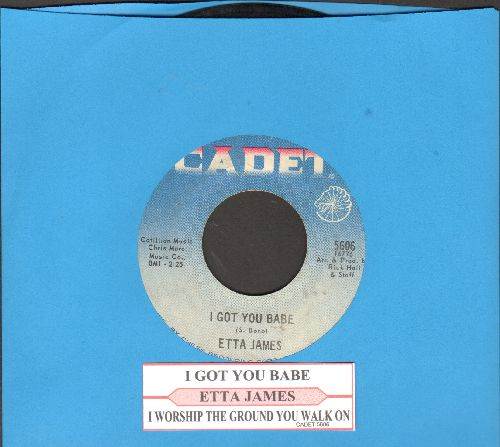 James, Etta - I Got You Babe/I Worhip The Ground You Walk On (with juke box label) - VG7/ - 45 rpm Records