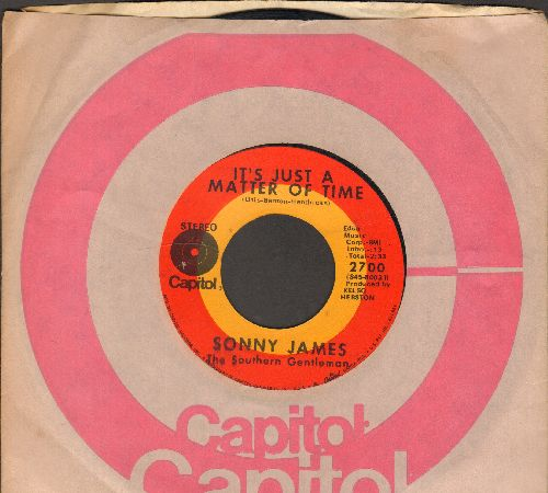 James, Sonny - It's Just A Matter Of Time/This World Of Ours (with Capitol company sleeve) - VG7/ - 45 rpm Records