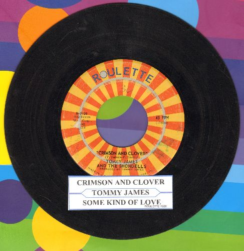 James, Tommy & The Shondells - Crimson & Clover/Some Kind Of Love (with juke box label) - VG7/ - 45 rpm Records