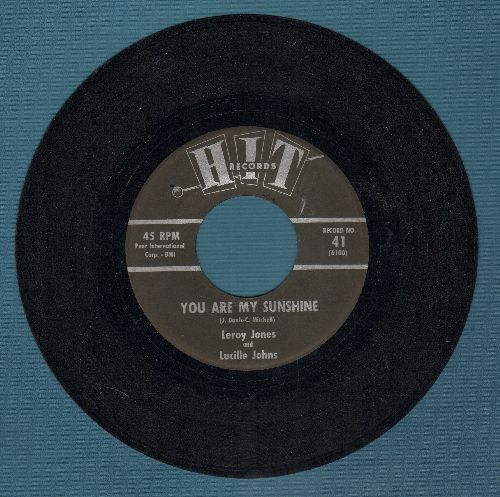 Jones, Leroy - You Are My Sunshine/Keep Your Hands Off My Baby (by Alpha Zoe on flip-side) (contemporary cover version) - EX8/ - 45 rpm Records