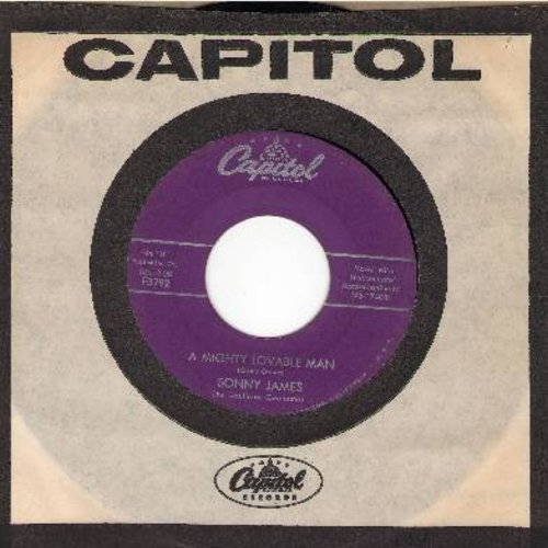 James, Sonny - A Mighty Lovable Man/(Love Came, Love Saw) Love Conquered (with vintage Capitol company sleeve) - VG7/ - 45 rpm Records