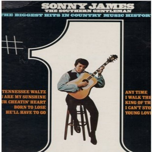 James, Sonny - Biggest Hits In Country Music History: You Are My Sunshine, I Walk The Line, Young Love, He'll Have To Go, Norn To Lose (vinyl STEREO LP record) - NM9/EX8 - LP Records