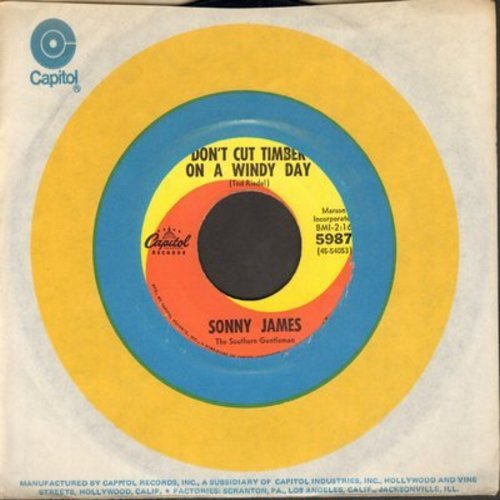 James, Sonny - Don't Cut Timber On A Windy Day/It's The Little Things (with Capitol company sleeve) - EX8/ - 45 rpm Records