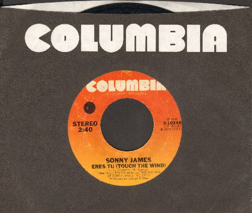 James, Sonny - Eres Tu (Touch The Wind)/Apache (with Columbia company sleeve) - VG7/ - 45 rpm Records