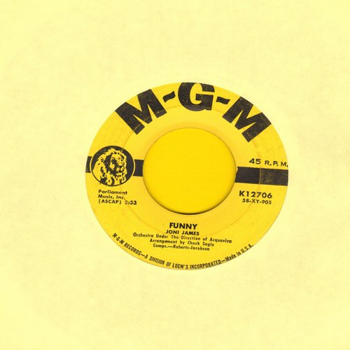 James, Joni - Funny/There Goes My Heart (yellow label first issue) - EX8/ - 45 rpm Records