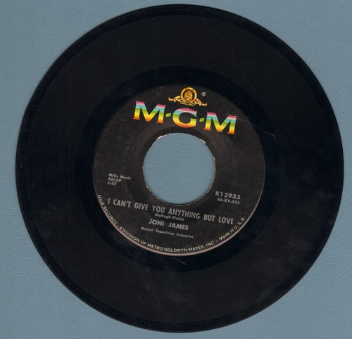 James, Joni - I Can't Give You Anything But Love/My Last Date With You - EX8/ - 45 rpm Records
