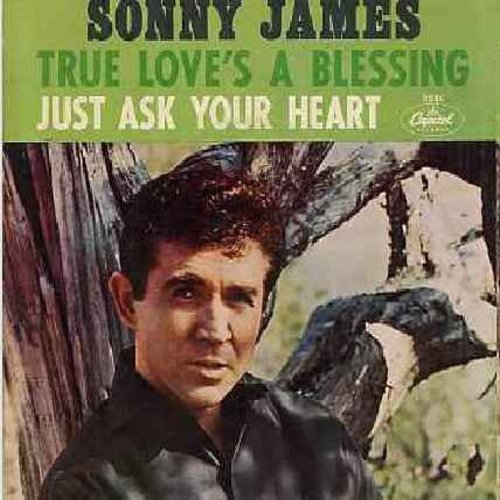 James, Sonny - Just Ask Your Heart/True Love's A Blessing (with picture sleeve) - NM9/EX8 - 45 rpm Records