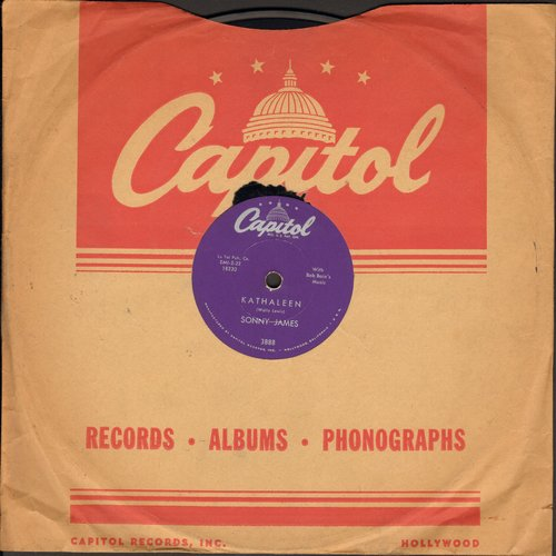 James, Sonny - Kathaleen (FANTASTIC Vintage Teen-Idol Sound!)/Walk To The Dance (RARE 10 inch 78 rpm record with Capitol company sleeve) - EX8/ - 78 rpm