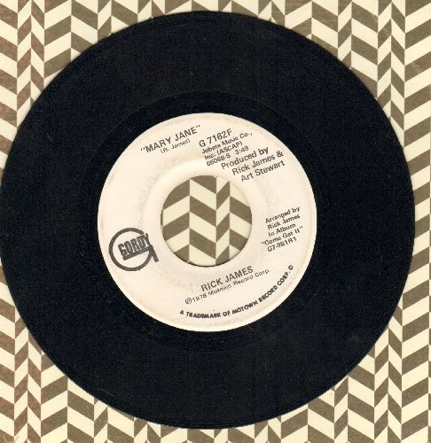 James, Rick - Mary Jane (double-A-sided DJ advance pressing) - VG7/ - 45 rpm Records