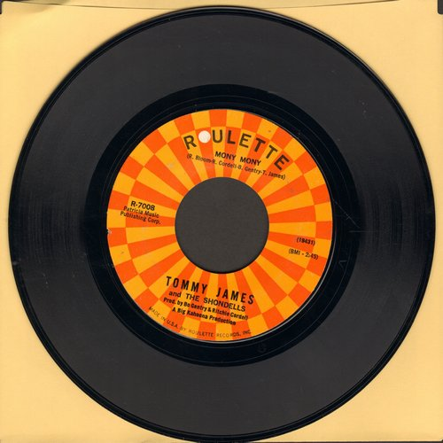 James, Tommy & The Shondells - Mony Mony (PARTY FAVORITE!)/One Two Three And I Fell  - EX8/ - 45 rpm Records