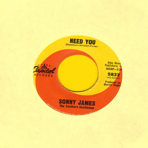 James, Sonny - Need You/On And On  - EX8/ - 45 rpm Records