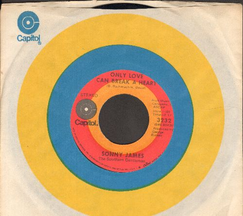 James, Sonny - Only Love Can Break A Heart/He Has Walked This Way Before (with Capitol company sleeve) - EX8/ - 45 rpm Records