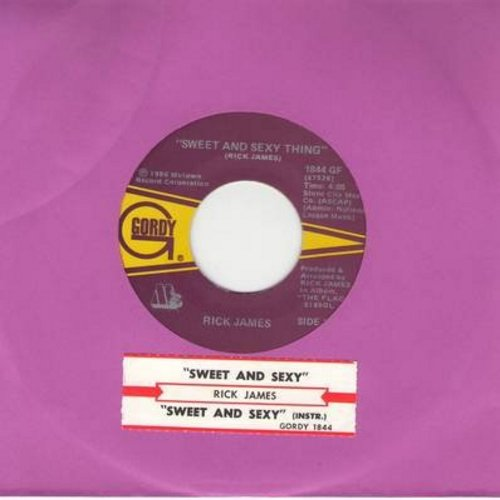 James, Rick - Sweet And Sexy Thing/Sweet And Sexy Thing (Instrumental) (with juke box label) - NM9/ - 45 rpm Records