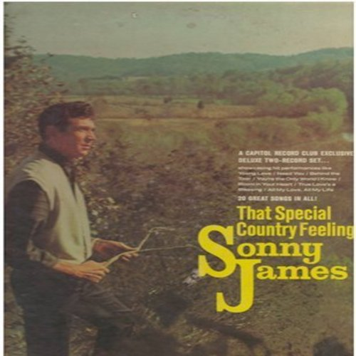 James, Sonny - That Special Country Feeling: Young Love, Need You, Invisible Tears, Just Ask Your Heart (2 vinyl STEREO LP record set, gate-fold cover) - EX8/EX8 - LP Records