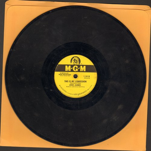 James, Joni - How Important Can It Be?/This Is My Confession (RARE 10 inch 78 rpm record) - VG7/ - 45 rpm Records