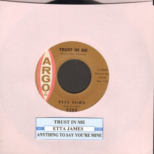 James, Etta - Trust In Me/Anything To Say You're Mine - VG7/ - 45 rpm Records