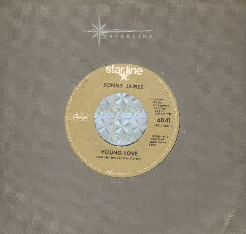 James, Sonny - Young Love/Hello Old Broken Heart (double-hit re-issue with Capitol company sleeve) - EX8/ - 45 rpm Records