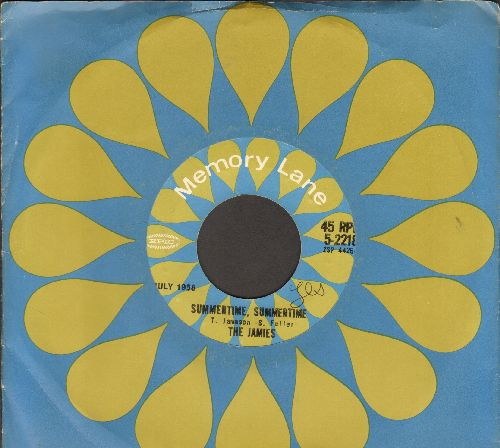 Jamies - Summertime, Summertime/Searching For You (re-issue with Epic company) - NM9/ - 45 rpm Records