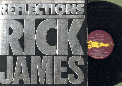 James, Rick - Reflections: Super Freak, Give It To Me Baby, Mary Jane, Oh What A Night (vinyl LP record with BONUS Giant 2-sided Poster) - EX8/EX8 - LP Records