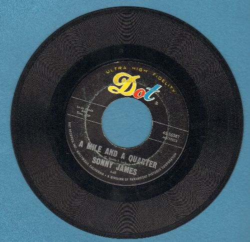 James, Sonny - A Mile And A Quarter (Alcatraz)/Just One More Lie  - VG7/ - 45 rpm Records