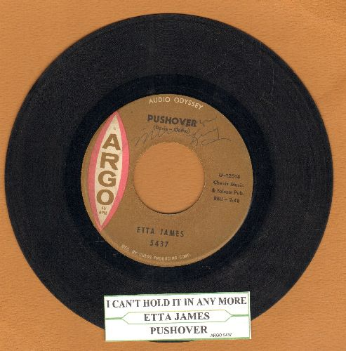 James, Etta - Pushover/I Can't Hold It In Any More (with juke box label) (wol) - VG7/ - 45 rpm Records
