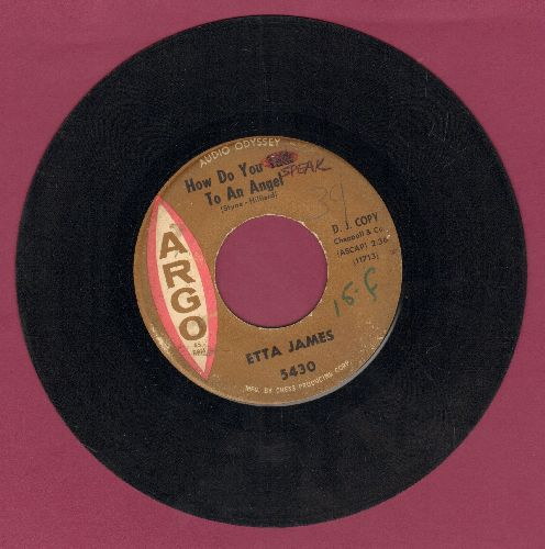 James, Etta - How Do You Talk To An Angel/Would It Make Any Difference To You (wol) - VG7/ - 45 rpm Records