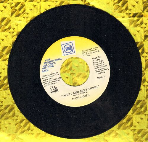 James, Rick - Sweet And Sexy Thing (double-A-sided DJ advance pressing) - NM9/ - 45 rpm Records