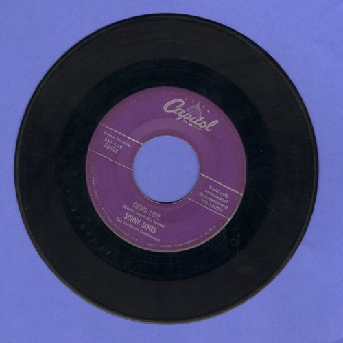 James, Sonny - Young Love/You're The Reason I'm In Love (purple label) - VG6/ - 45 rpm Records