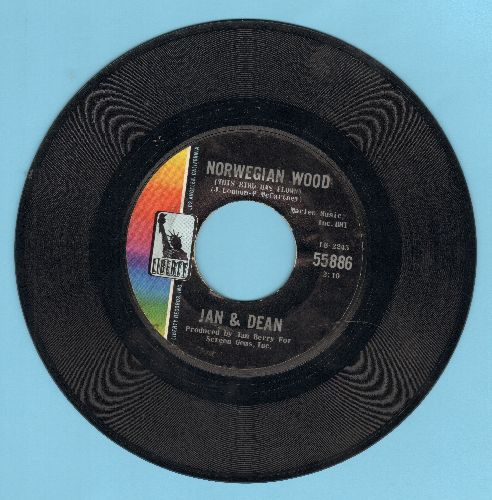 Jan & Dean - Popsicle/Norwegian Wood  - VG7/ - 45 rpm Records