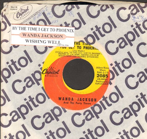 Jackson, Wanda - By The Time You Get To Phoenix/Wishing Well (with juke box label and Capitol company sleeve) - EX8/ - 45 rpm Records