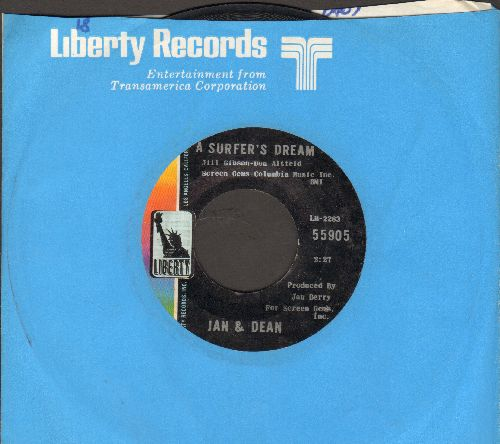 Jan & Dean - A Surfer's Dream/Fiddle Around (with Liberty company sleeve) - EX8/ - 45 rpm Records