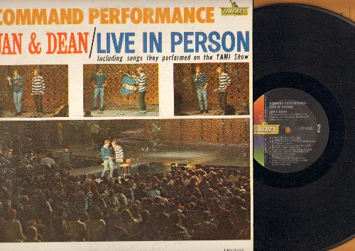 Jan & Dean - Command Performance: All I Have To Do Is Dream, Little Honda, I Get Around, Sidewalk Surfin', Do Wah Diddy Diddy, Surf City, Dead Man's Curve (Vinyl MONO LP record) - VG7/VG7 - LP Records