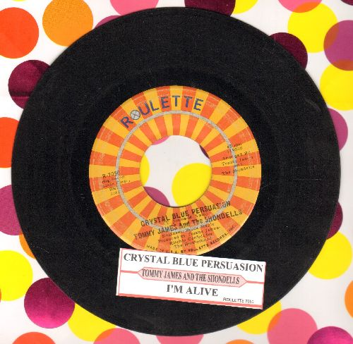 James, Tommy & The Shondells - Crystal Blue Persuasion/I'm Alive (with juke box label) - EX8/ - 45 rpm Records