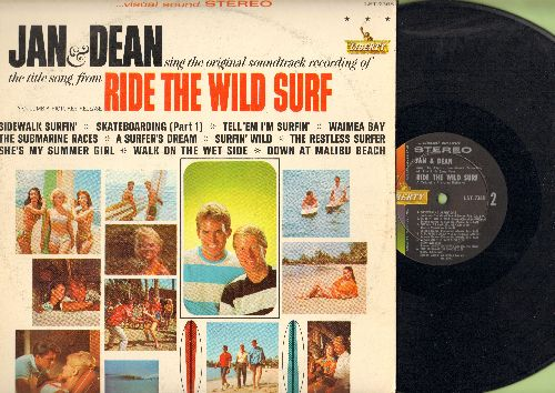 Jan & Dean - Ride The Wild Surf: Sidewalk Surfin', Walk On The Wet Side, She's My Summer Girl, Tell 'Em I'm Surfin', The Submarine Races (Vinyl STEREO LP record) - EX8/VG7 - LP Records