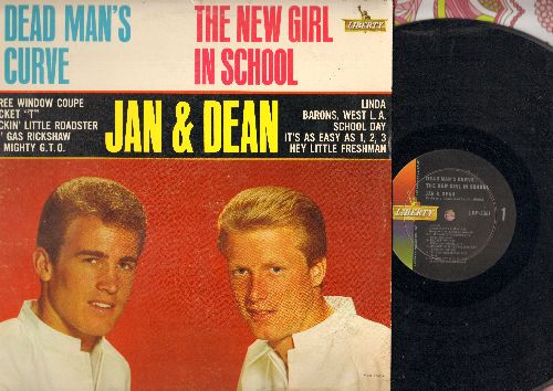Jan & Dean - Dead Man's Curve - The New Girl In School: Three Window Coupe, Bucket T, My Mighty G.T.O., Linda (Vinyl MONO LP record) - EX8/VG7 - LP Records