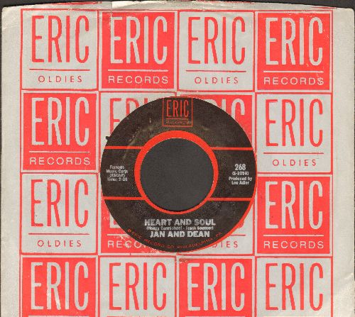 Jan & Dean - Heart And Soul/Lies (by The Knickerbockers on flip-side) (re-issue with Eric company sleeve) - NM9/ - 45 rpm Records