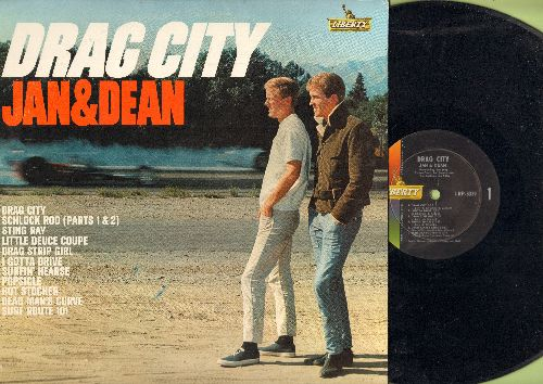 Jan & Dean - Drag City: Sting Ray, Dead Man's Curve, Popsicle, Little Deuce Coupe, Drag Strip Girl (Vinyl MONO LP record) - NM9/EX8 - LP Records