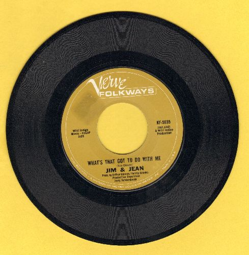 Jim & Jean - What's That Got To Do With Me/Stalemate - NM9/ - 45 rpm Records