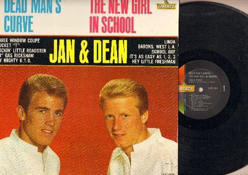 Jan & Dean - Dead Man's Curve - The New Girl In School: Three Window Coupe, Bucket T, My Mighty G.T.O., Linda (Vinyl MONO LP record) - NM9/NM9 - LP Records