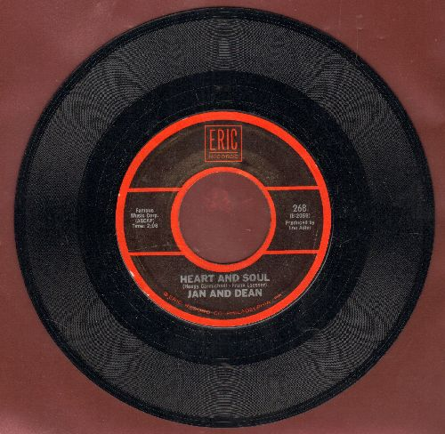 Jan & Dean - Heart And Soul/Lies (by The Knickerbockers on flip-side) (double-hit re-issue) - NM9/ - 45 rpm Records