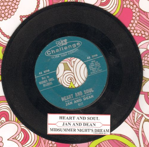 Jan & Dean - Heart And Soul (FANTASTIC Surf-Sound!)/Midsummer Night's Dream (with juke box label) - EX8/ - 45 rpm Records