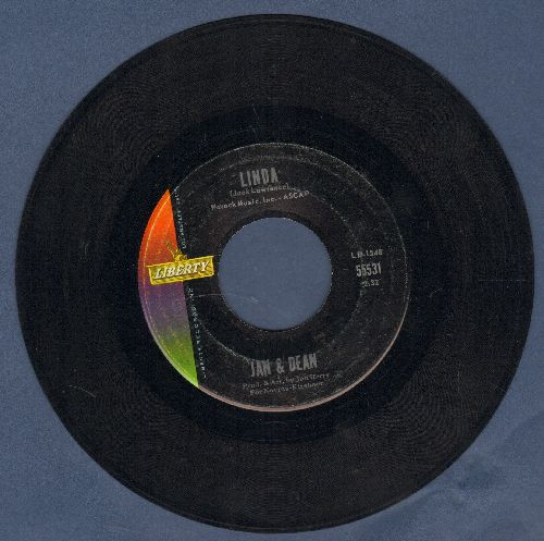 Jan & Dean - Linda (Li-Li-Li-Li-Li-Lin-Da)/When I Learn How To Cry  - EX8/ - 45 rpm Records