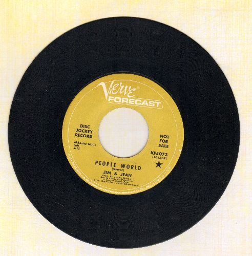 Jim & Jean - People World/Time Goes Backwards (double-hit re-issue) - NM9/ - 45 rpm Records