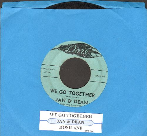 Jan & Dean - We Go Together/Rosie Lane (with juke box label) - EX8/ - 45 rpm Records