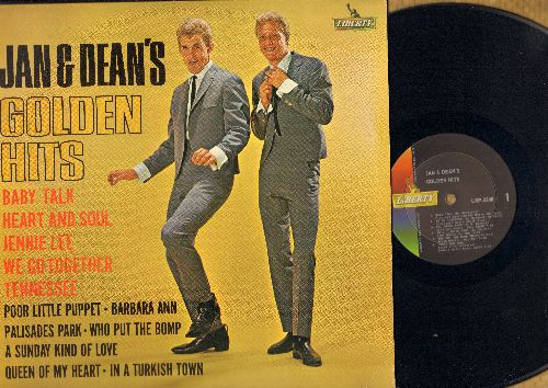 Jan & Dean - Golden Hits: Baby Talk, Heart & Soul,  We Go Together, Who Put The Bomp, A Sunday Kind Of Love (Vinyl MONO LP record)(ssol) - EX8/NM9 - LP Records