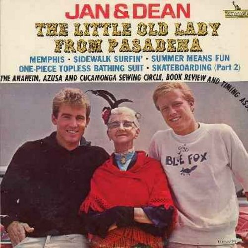 Jan & Dean - The Little Old Lady From Pasadena: Memphis, Sidewalk Surfin', Summer Means Fun (Vinyl MONO LP record) - EX8/EX8 - LP Records