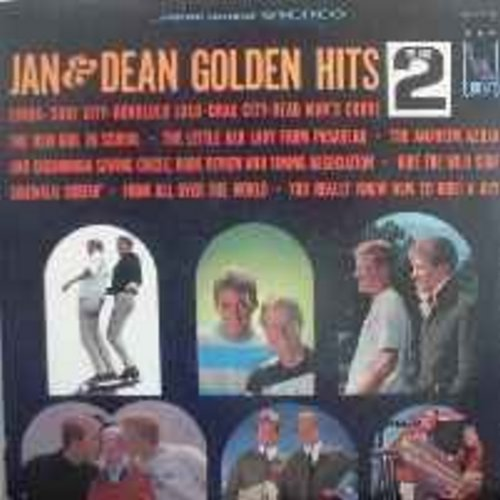 Jan & Dean - Golden Hits Vol. 2: Linda, Dead Man's Curve, Little Old Lady From Pasadena (Vinyl STEREO LP record) - VG6/VG6 - LP Records