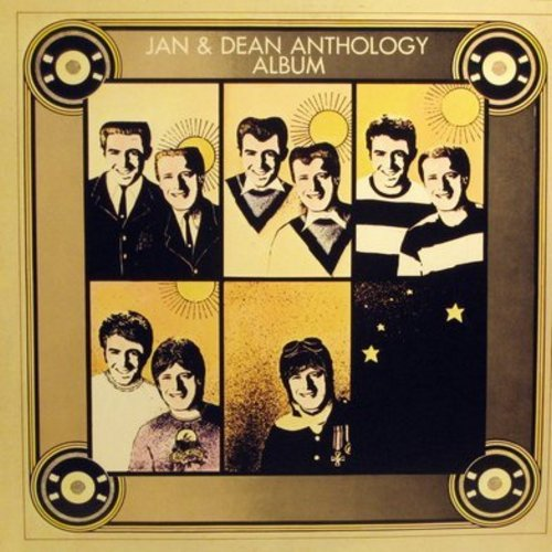Jan & Dean - Jan & Dean Anthology Album: Baby Talk, Jenny Lee, Heart & Soul, Linda, Surfin' Safari, Surf City, Drag City, Deadman's Curve, Sidewalk Surfin', Hang On Sloopy (2 vinyl LP record set, re-issue of vintage recordings) - VG7/VG7 - LP Records