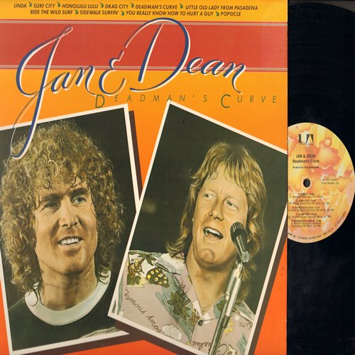 Jan & Dean - Dead Man's Curve: Linda, Surf City, Drag City, Ride The Wild Surf, Popsicle (Vinyl STEREO LP record) - M10/NM9 - LP Records